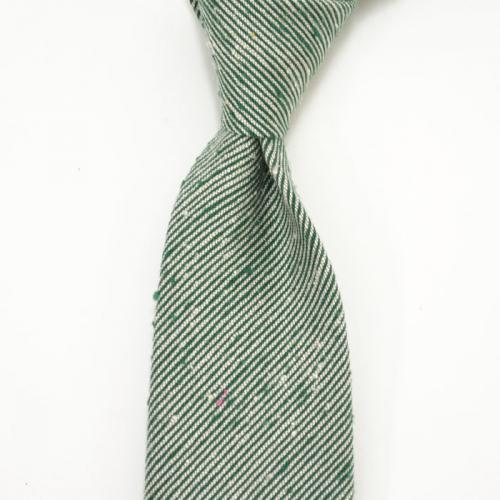 DARKNOT【ダークノット】 ネクタイ TIE CALABRITTO B 05 1 silk micro regimental stripes GREEN(シルク レジメンタル グリーン)